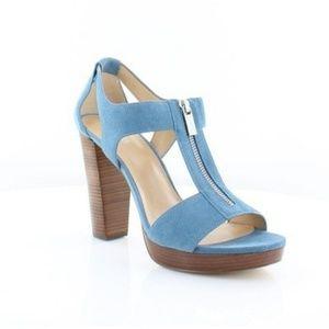 Michael Kors Berkley T-Strap Sandal size 10 blue